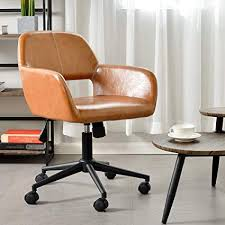 vintage leather office chair. Wonderful Leather Aingoo Vintage Office Chair Mid Back SwivelRolling Tilting Accent  Adjustable Computer Desk Armchair On Leather