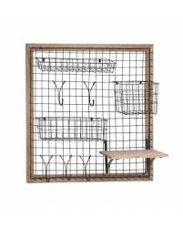 metal wire racks and hooks wooden