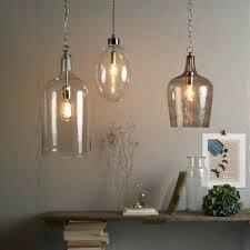 pendant lights glass jug light chandeliers lovable clear diy bowl full size