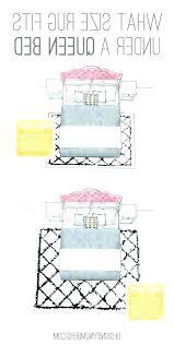 rug under queen bed area rug placement queen bed for size guide sizes bedroom rooms under rug under queen