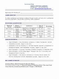 sample resume format for mba finance freshers best of mba finance