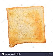 Toast Bread Slice Isolated On White Background With Clipping Path