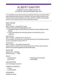 waitressing cv waiter cv template and examples live career uk
