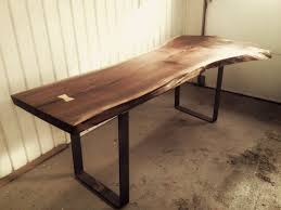 Hand Made Live Edge Black Walnut Dining Room Table By Bois - Walnut dining room furniture