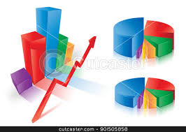 Vector Graphs And Charts Graph Charts Stock Vector