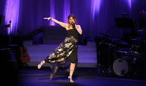 KYNDELL HARKNESS, Star Tribune Idina Menzel joked around with the audience  and performed at Northrop auditorium in 2015.