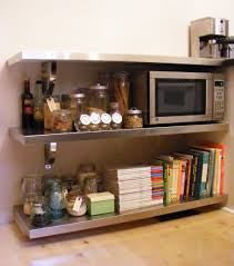 ... Large Size of Shelves:amazing Floating Stainless Steel Shelves Home  Storage Diy At Q Cat ...
