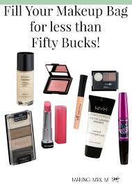 fill your makeup bag for less than 50