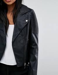 women s oasis leather look biker jacket m93e5