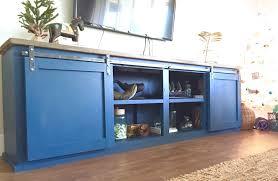 diy sliding barn door console designs
