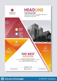 Flyer Background Design Free Annual Report Cover Or Flyer Template Design Stock Vector