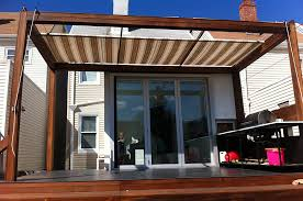 retractable patio awning by litra