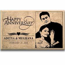 stylish happy anniversary personalised plaque