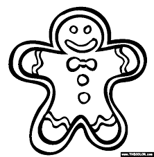 Gingerbread Man Online Coloring Page