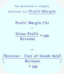 profit margin mathematics percentage