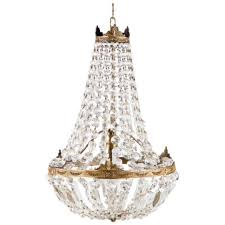 french empire style montgolfier crystal chandelier 1920s p a beautiful empire style chandelier