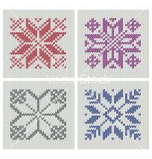 Set Of Norwegian Traditional Knitting Designs Vector 677642