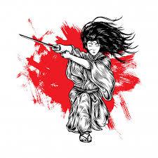 fabolous long hair samurai with
