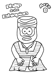 22 Ethiopian E?x48961 l022 archives jesus without language on philip and the ethiopian eunuch coloring page