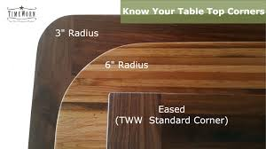 see options for table top corners