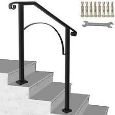 2 step stairs with handrail. Iron Handrail Arch Step Hand Rail Stair Railing Fits 2 Steps For Paver Outdoor 9332378499607 Ebay