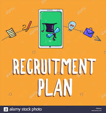 Design A Recruitment Plan Handwriting Text Writing Recruitment Plan Concept Meaning