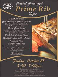 prime rib dinner flyer. Delighful Rib Prime Rib Dinner Night At The Creek Was A Huge Success  For Flyer D