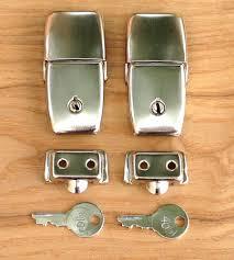 vintage luggage. craven pannier type topbox lock top box locks - vintage luggage single or pair