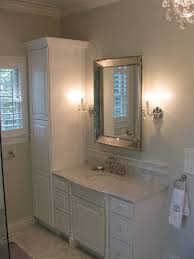 bathroom cabinets company. Interesting Cabinets Source West End Cabinet Company Master Bathroom With Gray Walls Paint  Color Restoration Hardware Venetian Beaded Mirror Flanked By French Crystal Sconces  On Bathroom Cabinets O
