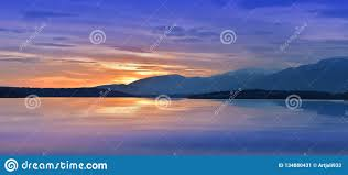 Sunrise Landscape And Design Incredibly Beautiful Sunset Sun Lake Sunset Or Sunrise