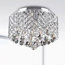 silver orchid taylor chrome crystal flush mount chandelier free in prepare 1