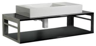 glass modern bathroom vanity aeri counter top and shelf unit laminated black glass modern bathroom