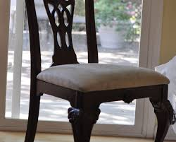 Chair Gray Silk Upholstered Dining Chair Seat Cover With Ornate