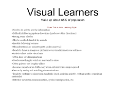 visual learner essay visual learning style essay gxart about three types of learning styles visual learn by seeing visual learners make up about of population