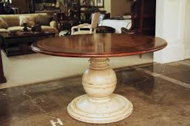 Round Pedestal Kitchen Table Benchwright Extending Pedestal Dining