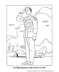 Small Picture Veterans Day Coloring Pages Army Air Corps Officer Coloring Page