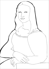 Small Picture Mona Lisa by Leonardo Da Vince coloring page Free Printable