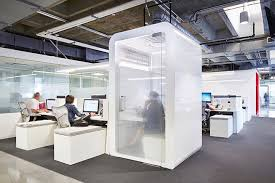 office privacy pods. IHeartMedia\u0027s NYC Outpost Is Modular And Modern. Cruise ShipsBurning Man Office SpacesTrack Ships. Privacy Pods S