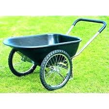 2 wheel garden cart two gorilla carts heavy duty poly dump wheeled for remarkable