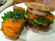 this recipe es from mcdougall s the starch solution it is a great veggie burger that doesn t fall apart i topped mine with avoca