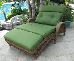 image of double chaise lounge outdoor furniture green