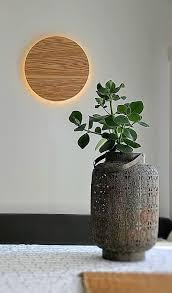 Wood Sconce Wood Wall Lamp Modern Simple Lamp Moon Lamp Wood Accent Wall Sconce New Nordic Lamp Design Lamp
