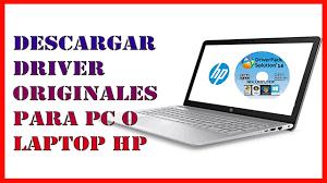 ✓ Como DESCARGAR DRIVER ORIGINALES para mi PC o LAPTOP HP【Driver wifi HP】 -  YouTube