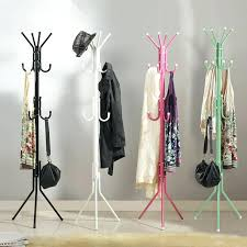 stand up coat racks stylish fashion hat bag hang coat rack metal tripod stand intended for up decorations