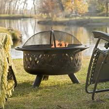 red ember rubbed bronze crossweave 36 inch wood burning fire pit with free grill grate and cover hayneedle