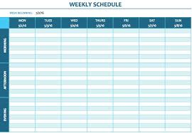 week time schedule template free weekly schedule templates for excel smartsheet