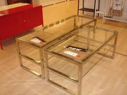 ... Stunning Acrylic Glass Coffee Table Ikea Decorations Modern Intended  Interior Furniture Minimalist Golden Color ...