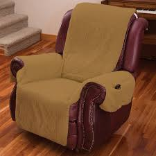 recliner chair cover one piece also armrests and pockets one size fits most