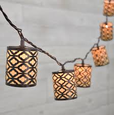 decorative string lighting. dark metal gray cylinder decorative string lights 10 lighting i