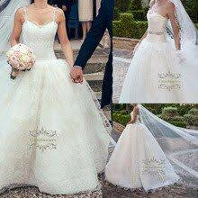 Fashionable Spaghetti Strap Ball Gowns Lace Wedding Dresses ...